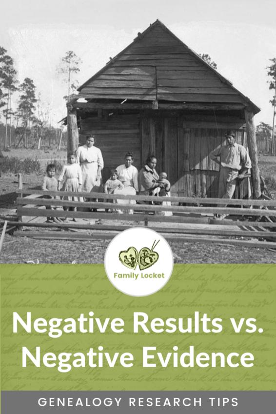 Negative Results vs. Negative Evidence (1)