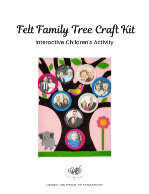Felt Tree #10 Pink, elephant Cover