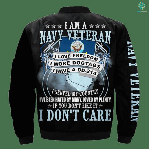 I Am A Navy Veteran I Love Freedom I Wore Dogtags I Have A DD-214 %tag familyloves.com