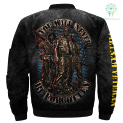 familyloves.com You Will Never Be Forgotten Over Print Jacket %tag