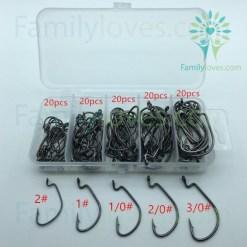 100pcs/box High carbon Steel Fishing Hooks Default Title %tag familyloves.com