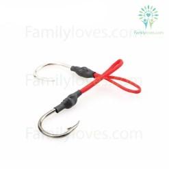 10pcs Stainless Steel Jigging Spoon Fishing Hook %tag familyloves.com