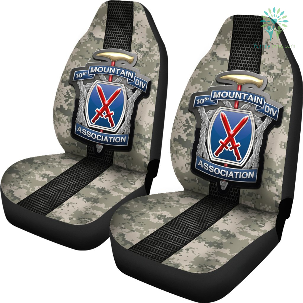 10th Mountain Division association Car Seat Covers %tag familyloves.com