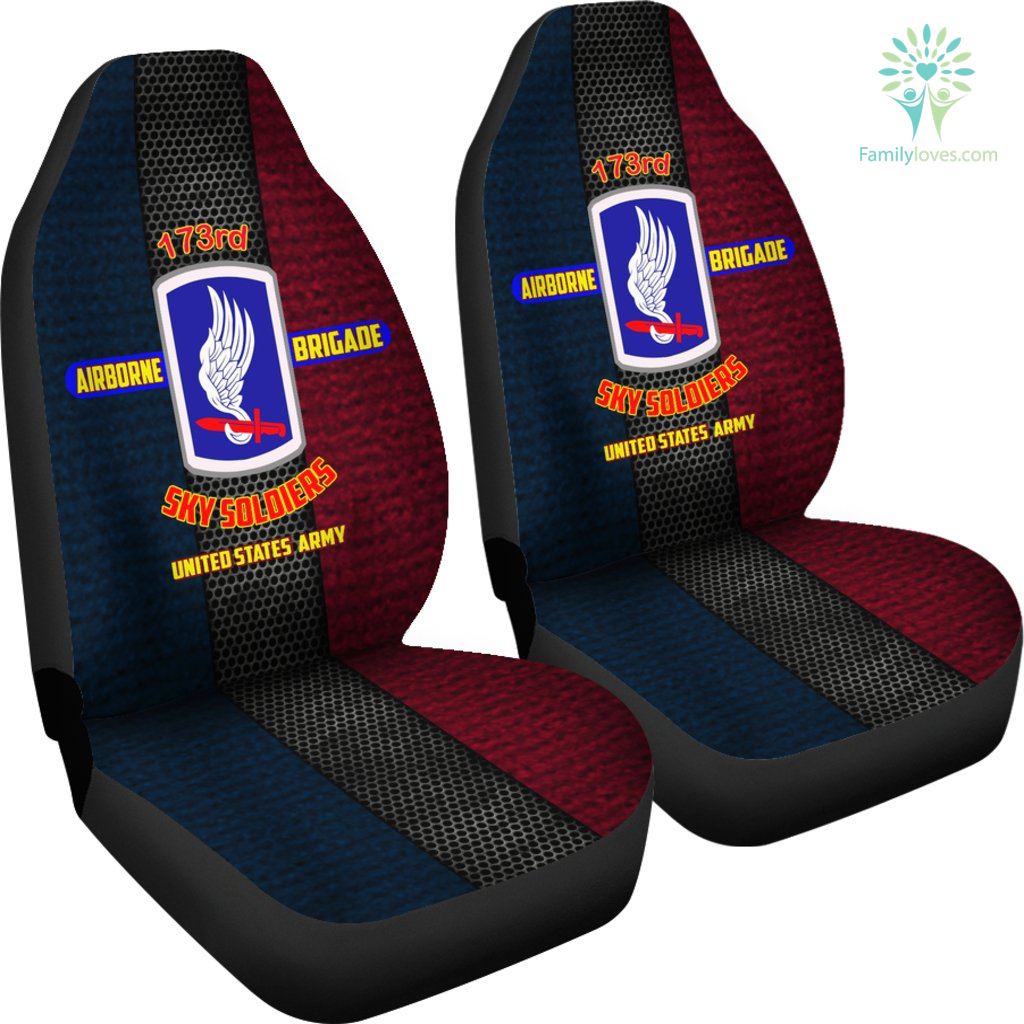 173rd Airborne Brigade Sky Soldiers United States Army Car Seat Covers %tag familyloves.com