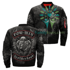familyloves.com Pow Mia Brotherhood Over Print Jacket %tag