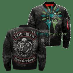 Pow Mia Brotherhood Over Print Jacket %tag familyloves.com