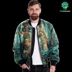 familyloves.com Vietnam War 3 Over Print Jacket %tag