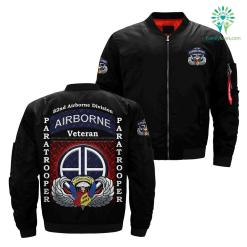 familyloves.com 82nd airborne division paratrooper over Print jacket %tag