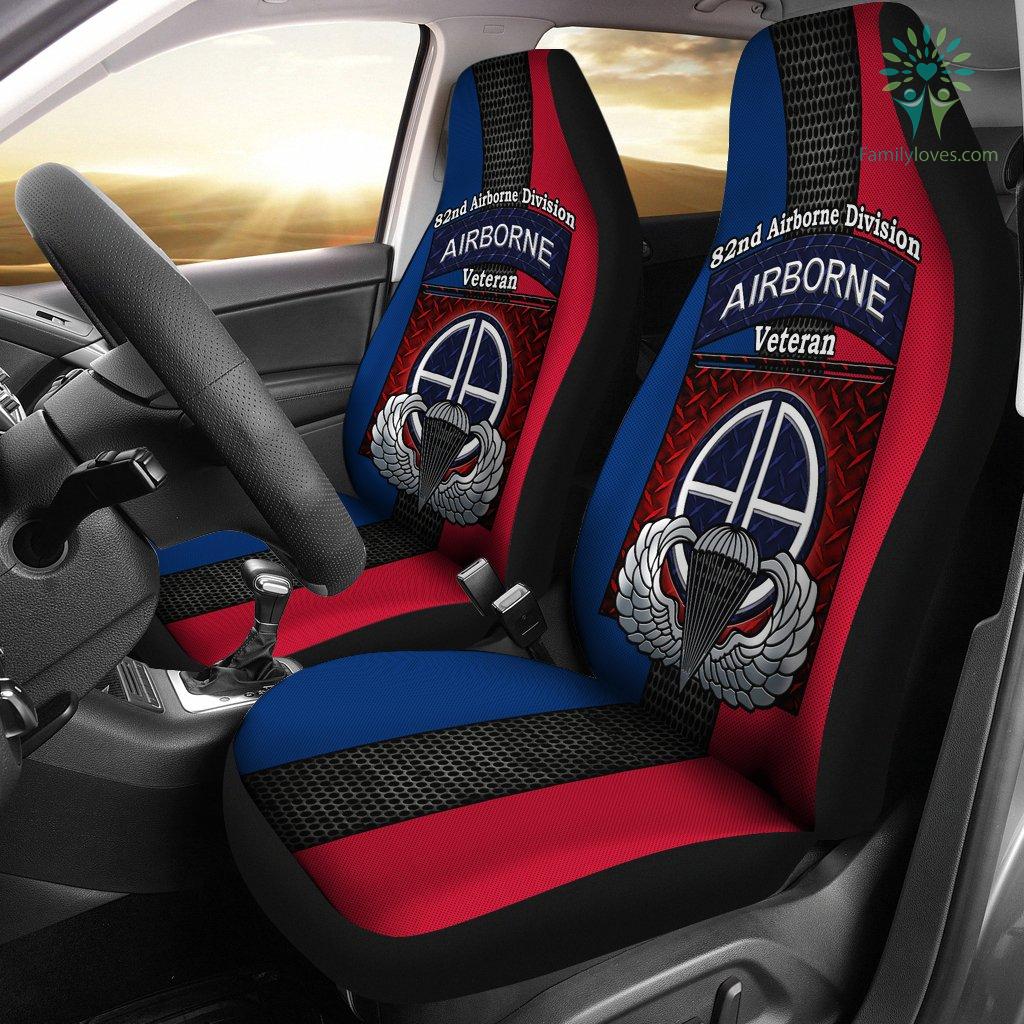82nd Airborne Division Airborne veteran Car Seat Covers %tag familyloves.com