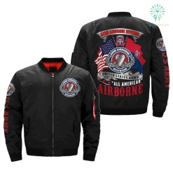 familyloves.com 82nd AIRBORNE DIVISION, ALL AMERICAN - OVER PRINT JACKET %tag