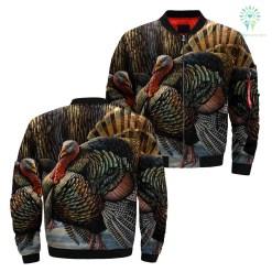 familyloves.com 3D All Over Printed Turkey Hunting Art Jacket %tag