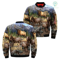 familyloves.com 3D All Over Printed Buck Hunter Jacket %tag