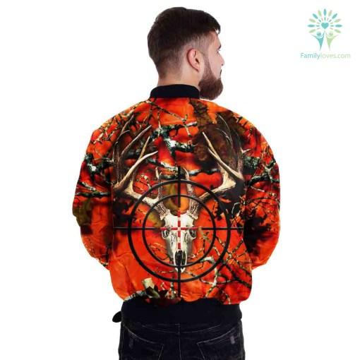 3D All Over Printed Orange Deer Camo Hunting Jacket %tag familyloves.com