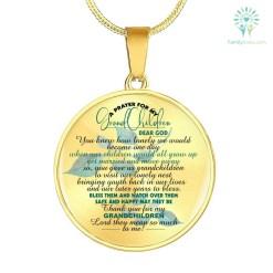 familyloves.com A PRAYER FOR MY GRANDCHILDREN... CIRCLE-LUXURY ADD ENGRAVING NECKLACE & BANGLE Luxury Necklace (Gold) Luxury Necklace (Silver) %tag