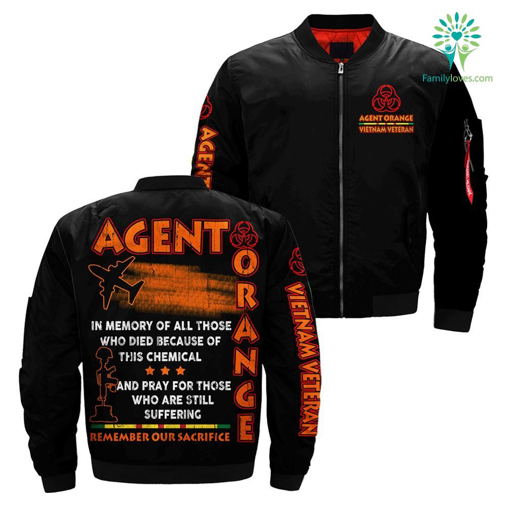 Agent Orange Remember Our Sacrifice... over print jacket %tag familyloves.com
