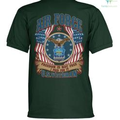familyloves.com Air Force freedom is not free i paid for it U.S veteran? polo shirt %tag