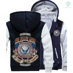 Son force mom my Airman my hero hoodie %tag familyloves.com