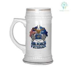 AIR FORCE VETERAN BEER STEIN %tag familyloves.com