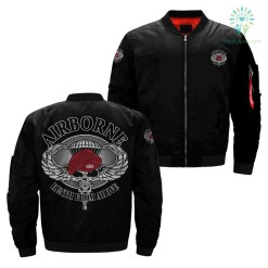Airborne death from above over print jacket %tag familyloves.com