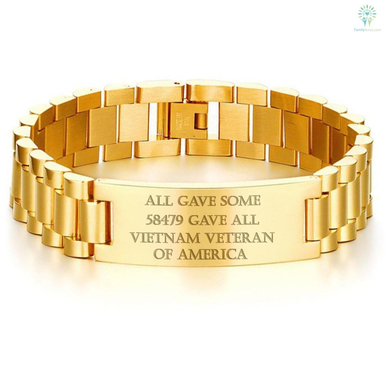 ALL GAVE SOME, 58479 GAVE ALL, VIETNAM VETERAN OF AMERICA-MEN BRACELET. Default Title %tag familyloves.com