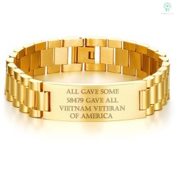 ALL GAVE SOME, 58479 GAVE ALL, VIETNAM VETERAN OF AMERICA-MEN BRACELET. Default Title %tag familyloves.com