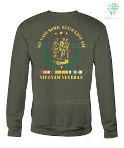 familyloves.com ALL GAVE SOME, 58479 GAVE ALL, Vietnam Veterans of America, Crew Neck Sweatshirt %tag