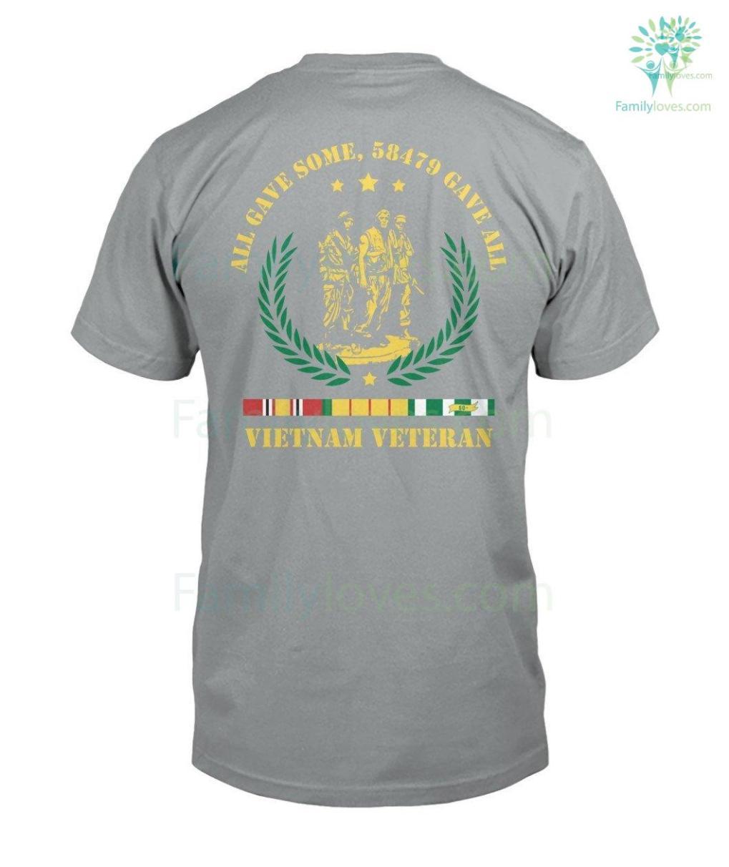 familyloves.com ALL GAVE SOME, 58479 GAVE ALL, Vietnam Veterans of America - Mens V-Neck %tag