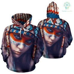 familyloves.com AMERICAN NATIVE LIMITED EDITION OVER PRINT HOODIE %tag
