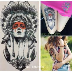 Ancient women Sexy Cool Beauty Hot Temporary Tattoo Stickers %tag familyloves.com