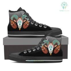 Aries High Shoes Black %tag familyloves.com