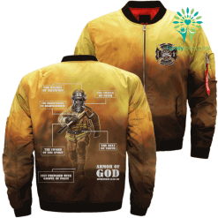 familyloves.com JESUS ARMOR OF GOD FIREFIGHTER Over Print Jacket %tag