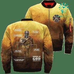 JESUS ARMOR OF GOD FIREFIGHTER Over Print Jacket %tag familyloves.com
