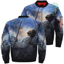 JESUS BRIGHT MORNING 3D Over Print Jacket %tag familyloves.com