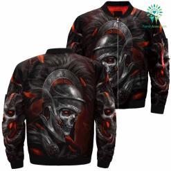 Armor Skull Over Print Jacket %tag familyloves.com