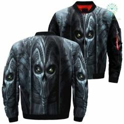 Dark Demon Skull Over Print Jacket %tag familyloves.com