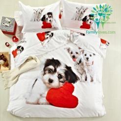 Bedding set shih tzu 100% Cotton %tag familyloves.com