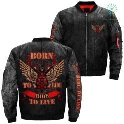 Biker Life USA Men's Born to Ride Ride to Live over print jacket %tag familyloves.com