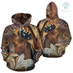 familyloves.com BLACK ART AMERICAN NATIVE OVER PRINT HOODIE %tag