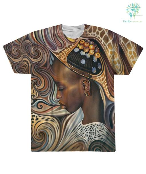 BLACK ART AMERICAN NATIVE OVER PRINT T-SHIRT %tag familyloves.com
