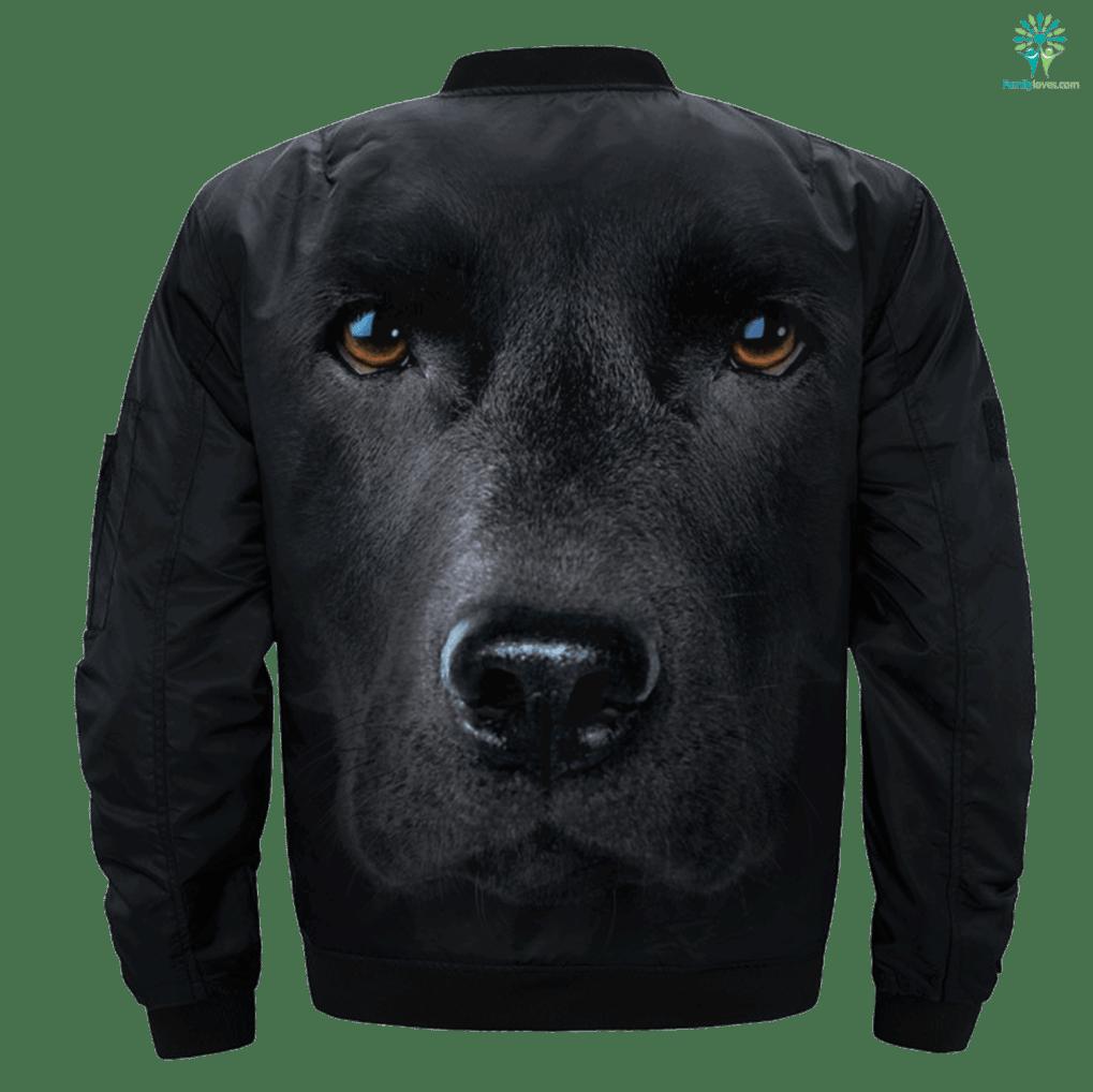 Black Lab over print jacket %tag familyloves.com