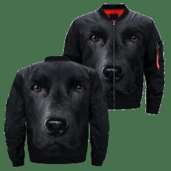 familyloves.com Black Lab over print jacket %tag
