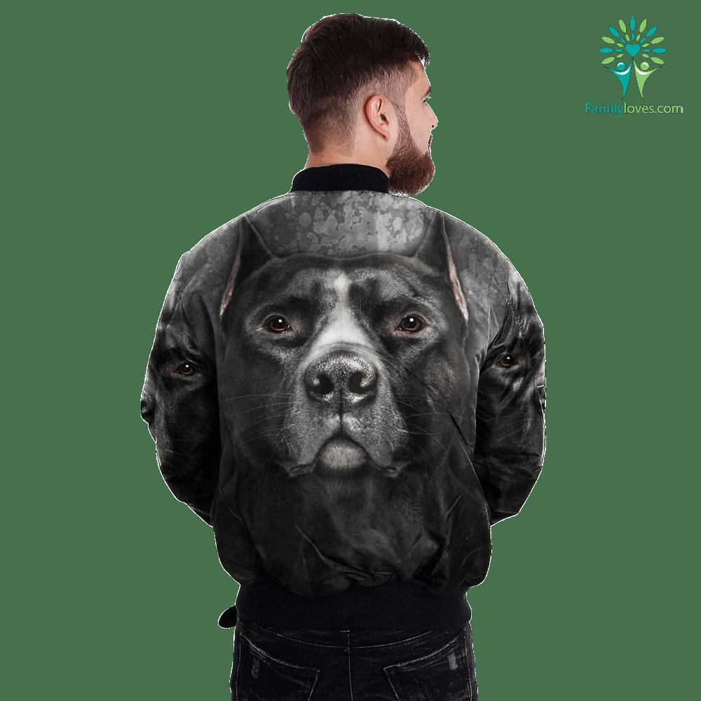 Black Pitbull over print jacket %tag familyloves.com