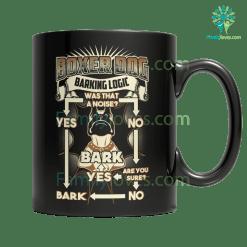 BOXER DOG barking logic... - MUG %tag familyloves.com