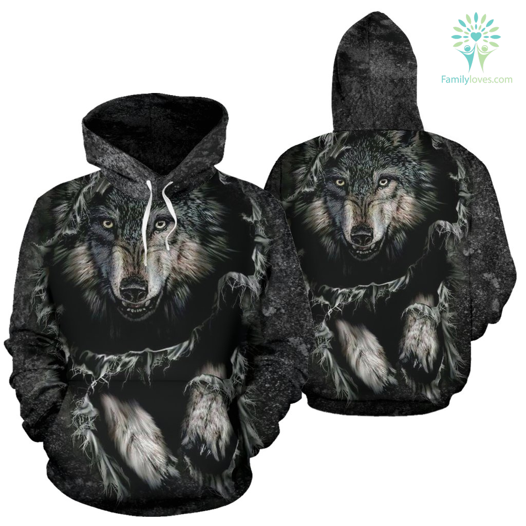 Breakthrough Wolf All Over Hoodie %tag familyloves.com