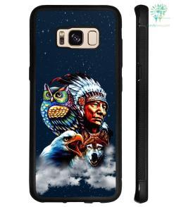 Chief & Spirit Animal Galaxy Background Native American Samsung, iPhone case - Samsung Galaxy S8 %tag familyloves.com