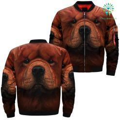 familyloves.com Chow Chow Dog over print jacket %tag