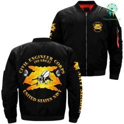 Civil engineer corps seabee United States navy over print jacket %tag familyloves.com