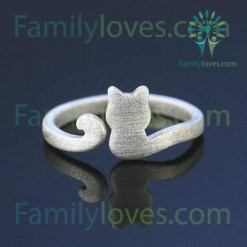 Cute Cat Ring for cat lover Default Title %tag familyloves.com