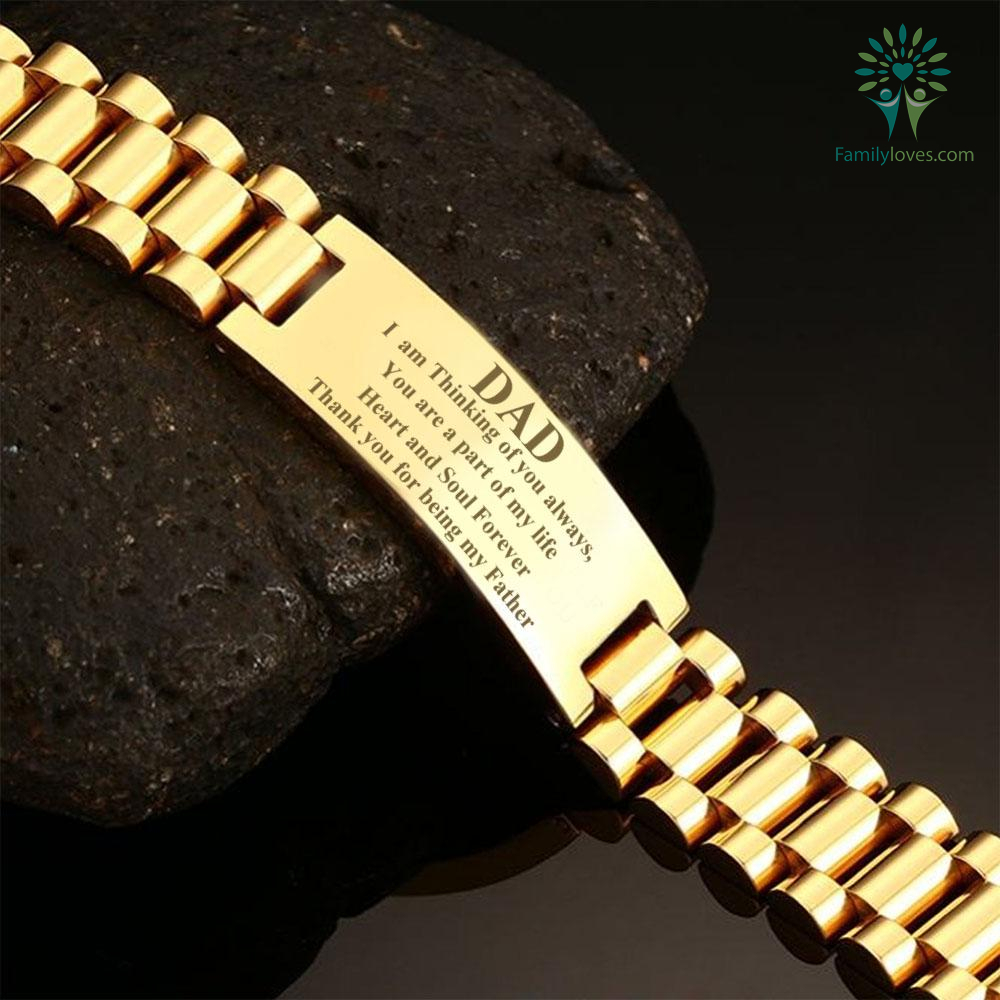 Dad, i am thinking of you always, you are a part of my life   men bracelets  - FamilyLoves Com