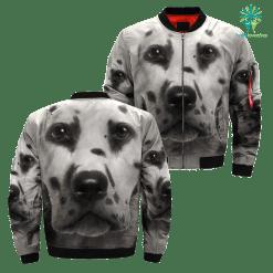 Dalmatian over print jacket %tag familyloves.com